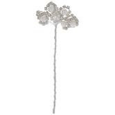 White Pearl & Rhinestone Flower Pick