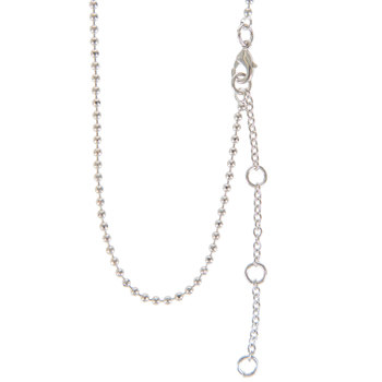 """Faceted Ball Chain Necklace - 16"""""""