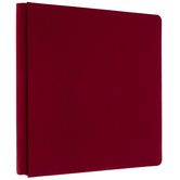 "Red Cloth Strap Hinge Scrapbook Album - 12"" x 12"""