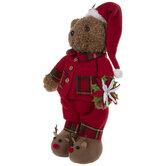 Plush Bear Wearing Pajamas