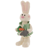 Bunny With Green Striped Vest