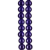 Cobalt Blue Round Glass Bead Strands - 8mm