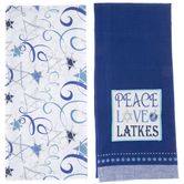 Hanukkah Kitchen Towels