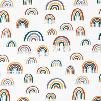 Rainbows Duck Cloth Fabric