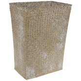 Whitewash Flared Seagrass Container