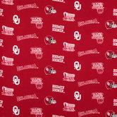 Oklahoma Allover Collegiate Cotton Fabric