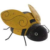 Yellow & Black Striped Metal Bee