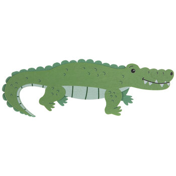 Crocodile Painted Wood Shape