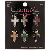Druzy Cross Connector Charms
