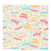 Happy Birthday Words Gift Wrap