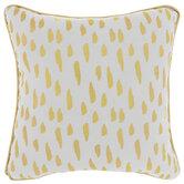 White & Gold Dash Pillow
