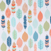 Patterned Feathers Apparel Fabric