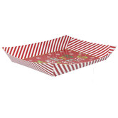 Merry Christmas Striped Paper Trays