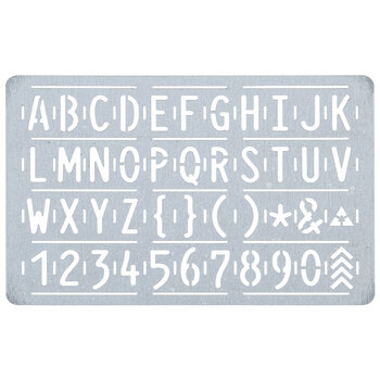 Uppercase Letter & Number Leather Stencil