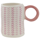 Blush & White Hearts Mug
