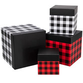 Buffalo Check Nested Square Box Set