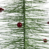 Green Glitter Flocked Tree With Ornaments - Medium