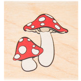 Mushrooms Rubber Stamp