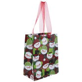 Red, Green & White Snowmen Gift Bag