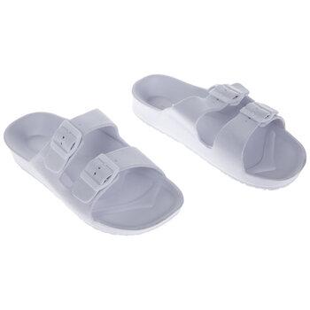White Buckle Foam Sandals - Size 7