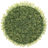 Green Boxwood Round Placemat