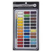Watercolor Paints & Brush - 36 Piece Set