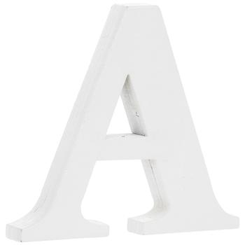 """White Wood Letter - 3"""""""