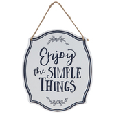 Enjoy The Simple Things Metal Wall Decor