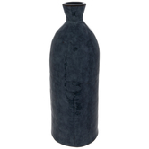 Blue Hammered Vase