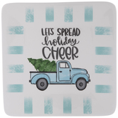 Holiday Cheer Blue Truck Plate