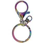 Holographic Lobster Clasp Keychain Findings - 69mm
