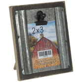 "Galvanized Metal Clip Frame - 2"" x 3"""
