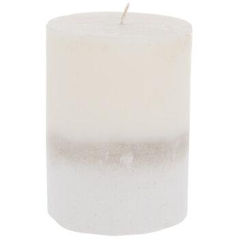 White & Ivory Two-Tone Pillar Candle