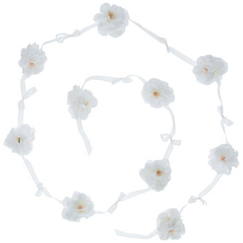 White Mini Rose Garland