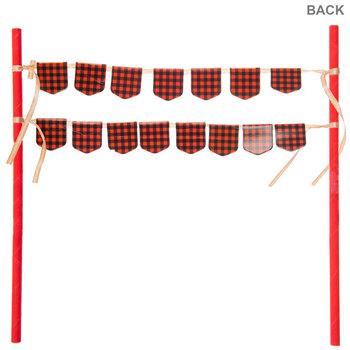 Happy Birthday Lumberjack Cake Banner