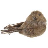 Brown Glitter Sisal Bird