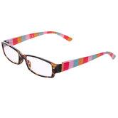 1.25+ Pink, Blue & Orange Striped Reading Glasses