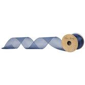 "Navy Wired Edge Sheer Ribbon - 2 1/2"""