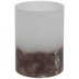 Brown & White LED Candle