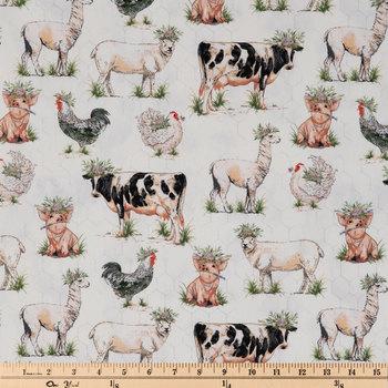 Fancy On The Farm Duck Cloth Fabric