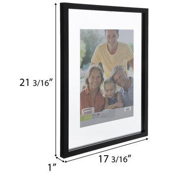 Black Wood Float Wall Frame