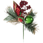 Red & Green Ornament Pick