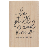 Psalm 46:10 Rubber Stamp