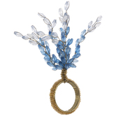 Blue & Gold Beaded Napkin Ring