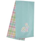 Pastel Plaid Bunny Kitchen Towels