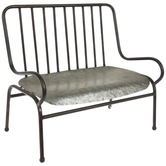 Mini Galvanized Metal Bench