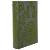 Gray & Green Damask Book Box