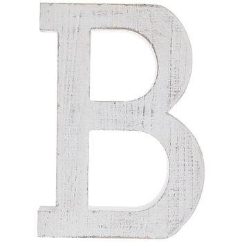 Whitewash Wood Letter Wall Decor - B