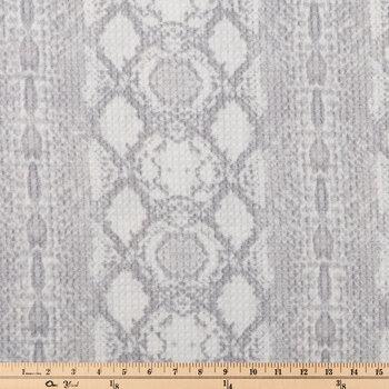 Gray & White Jacquard Waffle Apparel Fabric