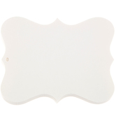 "4"" x 3"" Large Ivory Ornate Blank Tags"